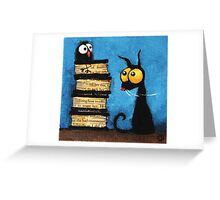 Tower of books Greeting Card