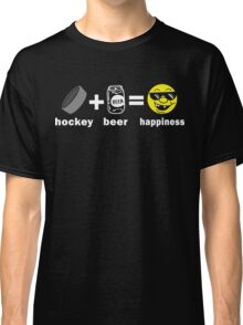 Funny Hockey + Beer = Happiness Classic T-Shirt