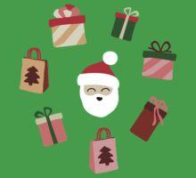 Santa Claus Pattern - Spruce Forest Kids Tee