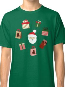 Santa Claus Pattern - Spruce Forest Classic T-Shirt