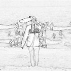 080612 008 0 pencil sketch lifeguard by crescenti