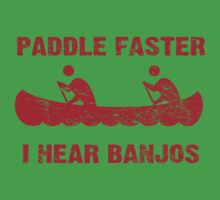 Paddle Faster I Hear Banjos - Vintage Red  Kids Clothes