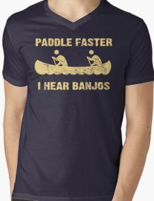 Paddle Faster I Hear Banjos - Vintage Dark Shirt  Mens V-Neck T-Shirt