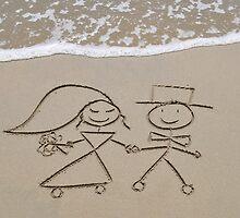 """Bride and Groom by Lenora """"Slinky"""" Regan"""