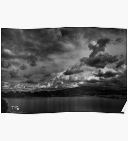 Rowboats and Clouds on Lake Watson Poster
