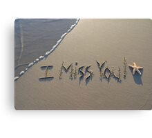 I Miss You! Canvas Print