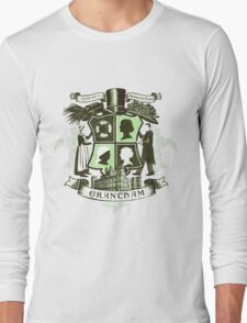 Grantham coat of arms (green) Long Sleeve T-Shirt