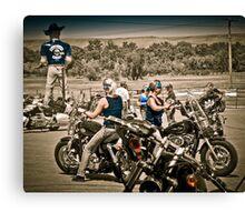 Full Throttle Saloon Parking Sturgis 2012 Canvas Print