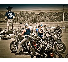 Full Throttle Saloon Parking Sturgis 2012 Photographic Print
