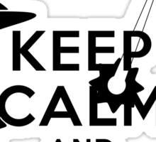 Keep calm and carry ... WTF is that ? Sticker