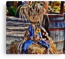 Having a bad hair day...but still smiling...it's Halloween!! Canvas Print