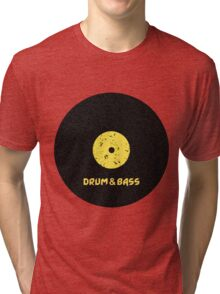 Drum & Bass (Vinyl) Tri-blend T-Shirt