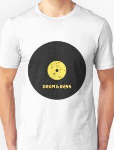 Drum & Bass (Vinyl) Unisex T-Shirt