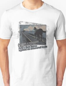 Against a Regiment - Horse and Train Unisex T-Shirt