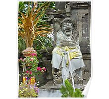 Guarding the gates of Tanah Lot Poster