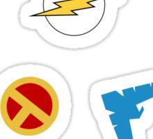 Superhero symbols Sticker