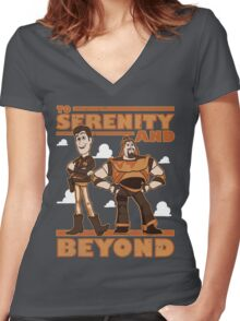 Serenity and Beyond Women's Fitted V-Neck T-Shirt