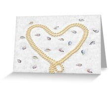 Pearl Heart Greeting Card