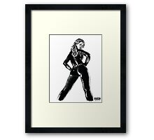 Black Widow in Latex Framed Print