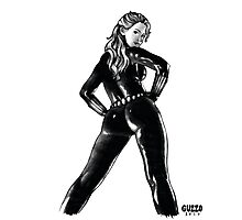 Black Widow in Latex Photographic Print