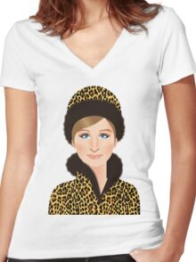 Hello Gorgeous! Women's Fitted V-Neck T-Shirt