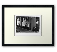 Man With Computer Framed Print