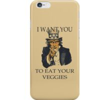 Uncle Sam Eat Your Veggies iPhone Case/Skin