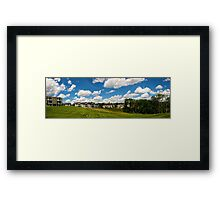 Cartoon Clouds Framed Print