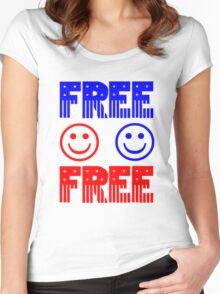 Free. Feel free. Women's Fitted Scoop T-Shirt