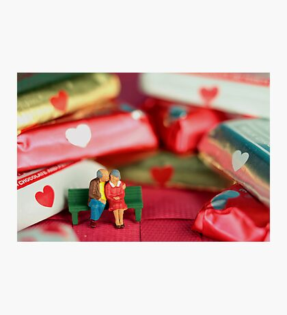 The old lovers memorize Valentine's Day Photographic Print