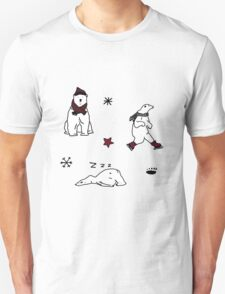 CHRISTMAS POLAR BEAR PATTERN Unisex T-Shirt
