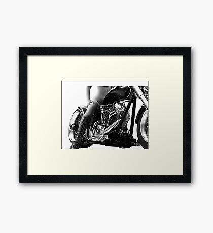 Bad Ass Biker Girl  Framed Print