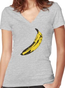 Banana Andy Warhol for scale Women's Fitted V-Neck T-Shirt