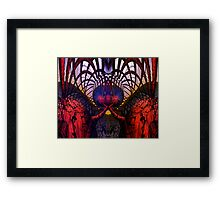 Abstract B . Mirror Test Symmetry Fx  Framed Print