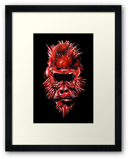 """Miss Red"" Print (Canvas, Framed, or Mounted) by Shaine Schroeder"