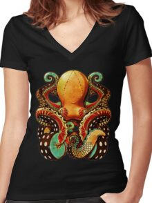 the octopus Women's Fitted V-Neck T-Shirt