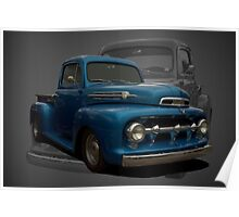1951 Ford F1 Pickup Truck Poster
