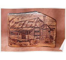 Pyrography: Rustic Cabin Poster