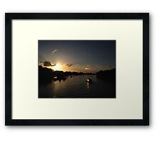 Putney Sunset Framed Print