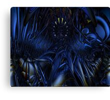Blue Jade Abstract Fx  Canvas Print