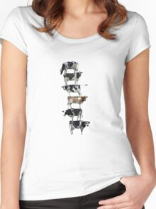 Cow stack Women's Fitted Scoop T-Shirt