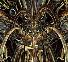 Abstract Horned Owl Fx  by AdamF-X29