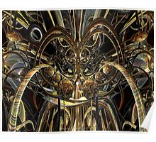 Abstract Horned Owl Fx  Poster