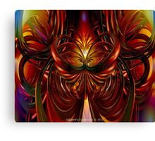 Abstract Fire Heart Fx  Canvas Print