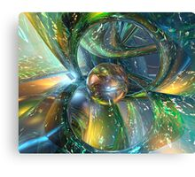 Baby Blue Glass Master Fx  Canvas Print