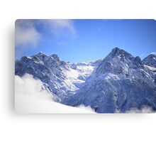 2012 - piz lischana and piz san jon Canvas Print