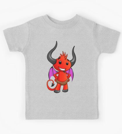 Devil Character - Hands On Hips - 1 Kids Tee