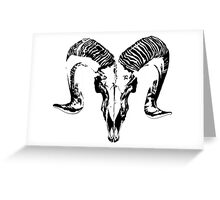 Death in the Simplest of Forms Greeting Card