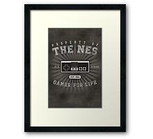 Property of NES (REMIX) Framed Print