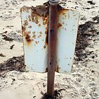 Beach Sign Five by Robert Phillips